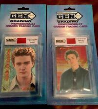 * Justin Timberlake 2000 Gem Authentics Nsync Memorabilia Shirt Swatches #/3000