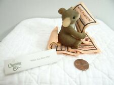 Charming Tails While You Were Out Mouse Figurine Memo Pad 89/155 Boxed