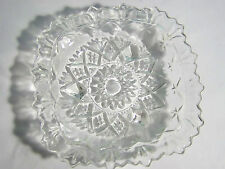 "Pasari Clear Pressed Glass Square Dish Indonesia 5 1/2"""