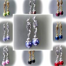 Leverback Beads Handcrafted Earrings