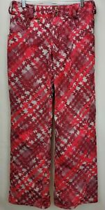 Volcom Snowboard Ski Pants Size Small Burgundy Red Pink Transition Snow Pant
