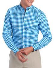 Greg Norman - HOMBRES M - Nuevo con Etiqueta - Azul Ajustado Vichy Cuadros Logo