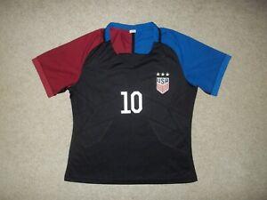 Carli Lloyd Team USA size 30 Black Red & Blue Polyester United States Jersey EUC