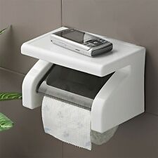 Wall Mounted Plastic Waterproof Toilet Roll Paper Box Holder Bathroom Tool Hr