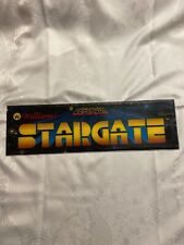 Vtg Defender Stargate by Williams Marquee Header Sign Arcade Coin Op Video Game