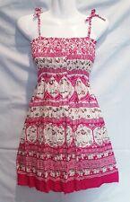 Women Smock Short Mini Dress Elephant Ladies Boho Hippy Summer Beach Party DS21