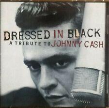 VARIOUS Dressed in black  Johnny Cash Tribute   CD ALBUM  NEW - NOR SEALED