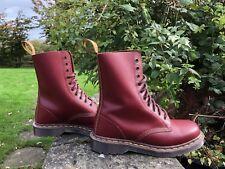 Dr Martens 1490 Vintage Skinhead Oxblood Boots Made in England UK 7 EU 41