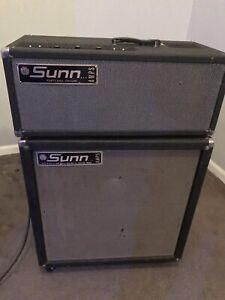 1965 Sunn Smileface C-65 amp #1009 & 1x15  cab W/JBL-D130F. 9th Sunn ever made!