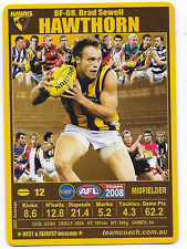 2008 TeamCoach Best & Fairest (BF-08) Brad SEWELL Hawthorn