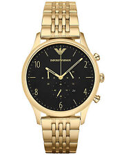 NEW EMPORIO ARMANI AR1893 MENS BETA GOLD CHRONOGRAPH WATCH - 2 YEARS WARRANTY