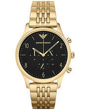 Nuevo emporio Armani Reloj con Cronógrafo Para Hombre de Oro de AR1893 Beta - 2 Años De Garantía