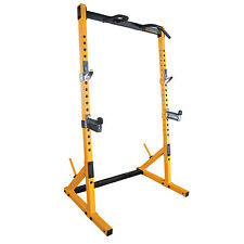 Powertec Workbench Half Rack Weight Gym Rack - Yellow - With Chin Up Bar