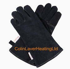 Stovax Black Heat Resistant 100 Leather Gloves