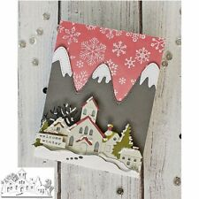Houses Forests Trees Cutting Dies Stencil Scrapbooking Embossing DIY Gift Card