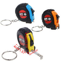 Portable 1M/3.28Ft/39 Retractable Ruler Tape Measure Key Chain Metric/Imperial