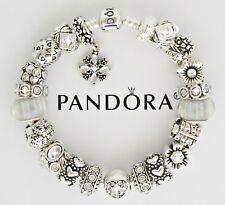 Authentic Pandora Charm Bracelet Love Heart Gift Silver European Charms