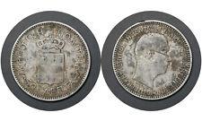 50 Lepta 1901 Greece Crete / Cretan State Silver Coin / King George # 6 From 1$