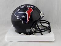 Deshaun Watson Autographed Houston Texans Mini Helmet- JSA W Auth *White