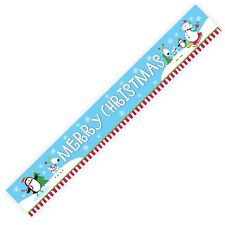 4.5m Merry Christmas Cheer Happy Snowman Party Foil Banner Decoration Festive UK