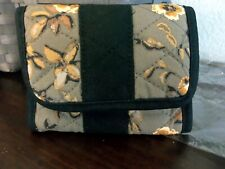 Longaberger Wallet - Quilted Khaki Floral / Check - New in Plastic - Cute!