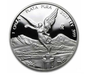 2021 1 oz Silver Mexican Libertad Proof Coin .999 Fine Silver in Capsule #A361