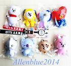 Kpop BTS BT21 Cartoon Plush Doll Keychain Keyring Pendant Stuff Soft Plushie Toy