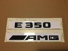 Mercedes E350 AMG Badge Emblem Decals New Style Gloss Black