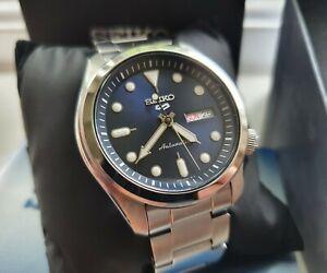 Seiko 5 SRPE53K1 Blue Dial Steel Automatic Watch 4R36 'DresSKX'