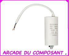 1 CONDO CONDENSATEUR DEMARRAGE MOTEUR 450V 25MF + CABLE - GROUPE ELECTROGENE