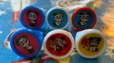 6 Vintage Panda Bear Plastic Vending Lenticular Flicker Toy Rings