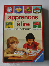 APPRENONS A LIRE Jeu de Lecture French Reading BOARD GAME Ravensburger 1982