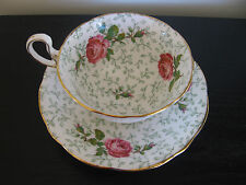 Aynsley Pink Rose Chintz China Cup & Saucer