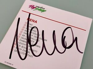 Nena Signiert CD Booklet 1st Album Re 1989 CBS 4653882 1.Hand NM