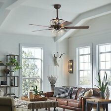 """52"""" Chandelier Ceiling Fan Lighting Chandelier 5 Resin Wooden Blades with Remote"""