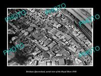 OLD LARGE HISTORIC PHOTO OF BRISBANE QUEENSLAND, AERIAL VIEW OF ROYAL SHOW c1958