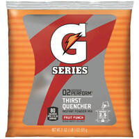 GATORADE Instant Powder Drink Mix - FRUIT PUNCH - Makes 2.5 gallons