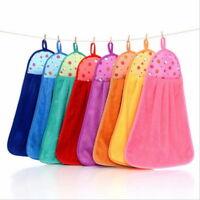 1PC Soft Hanging TowelsSuction Water Thickening  Velvet Kitchen Rag Towel