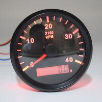 High Precision Tachometer Gauge WEMA LCD Tacho Hour Meter 12/24V 0-4000 RPM 85mm