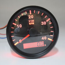 High Precision Tachometer Gauge WEMA LCD Tacho Hour Meter 12/24V 0-4000 RPM 85mm