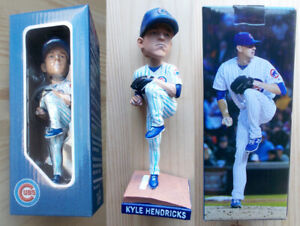 "2018 Chicago Cubs Baseball -- Wrigley 8"" BOBBLEHEAD - Pitcher KYLE HENDRICKS tb"