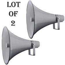 """2) LOT- Pyle PHSP16 16"""" Indoor/Outdoor 80W PA Horn Speaker W/70-100V Transformer"""