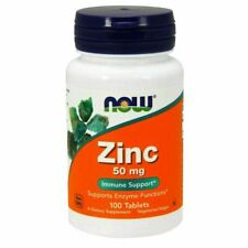 NOW Foods Zinc 50mg Immune Support Tablets - 100 Count
