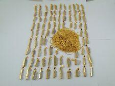 1000 GRAM 18K GOLD PLATED AMETHYST DRUZY ALLOY 100 PCS PENDANT OVERLAY LOT CHAIN