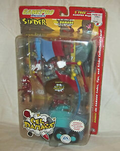 EA Games 2002 Joyride Studios Cel Damage Action Figure  Sinder GamePro New Toy
