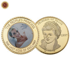 WR Princess Diana 20th Anniversary Commemorative 24K Gold Coin Gifts for Girls