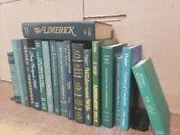 Lot of 6 Hardcover GREEN Shades Books for Staging Prop Decor Gold Silver Lettrng