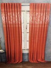 "Cynthia Rowley Window Panels Pair 52 x 84"" Salmon Coral White Drapes Curatins NW"