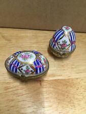 2 Vintage Antique Cloisonne Eggs