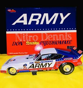 NHRA 1:24 ARMY Diecast SNAKE Top Fuel NITRO Funny Car DON PRUDHOMME  RARE Arrow